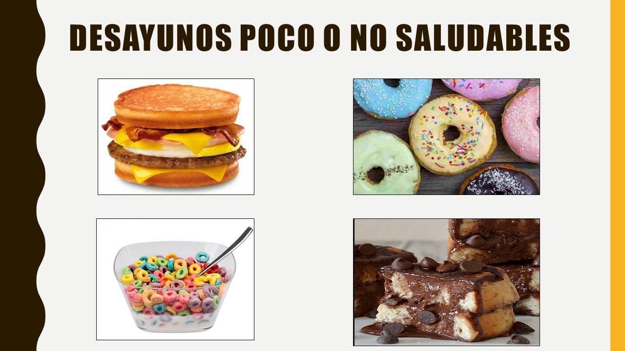Desayunos poco o no saludables