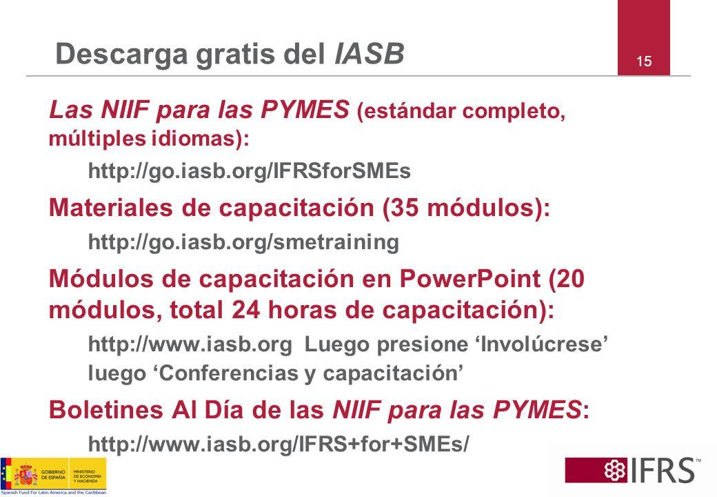 Descarga gratis del IASB