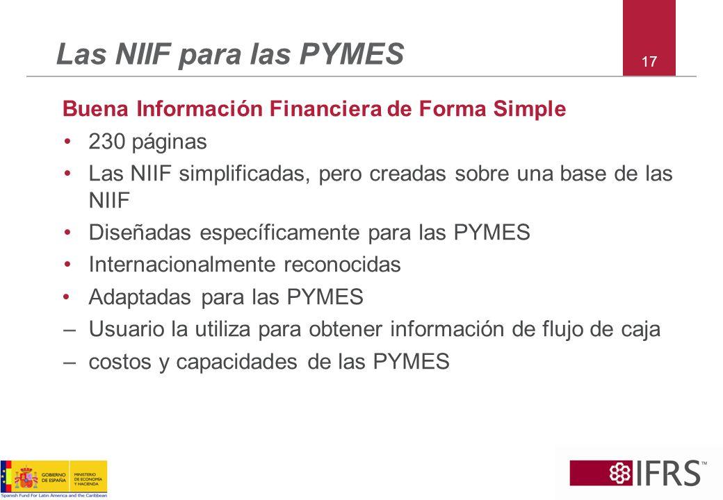 Las NIIF para las PYMES Buena Información Financiera de Forma Simple