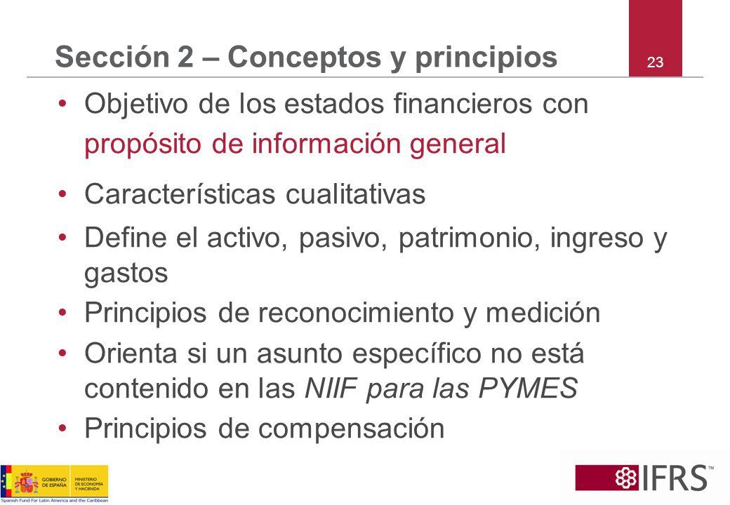 Sección 2 – Conceptos y principios