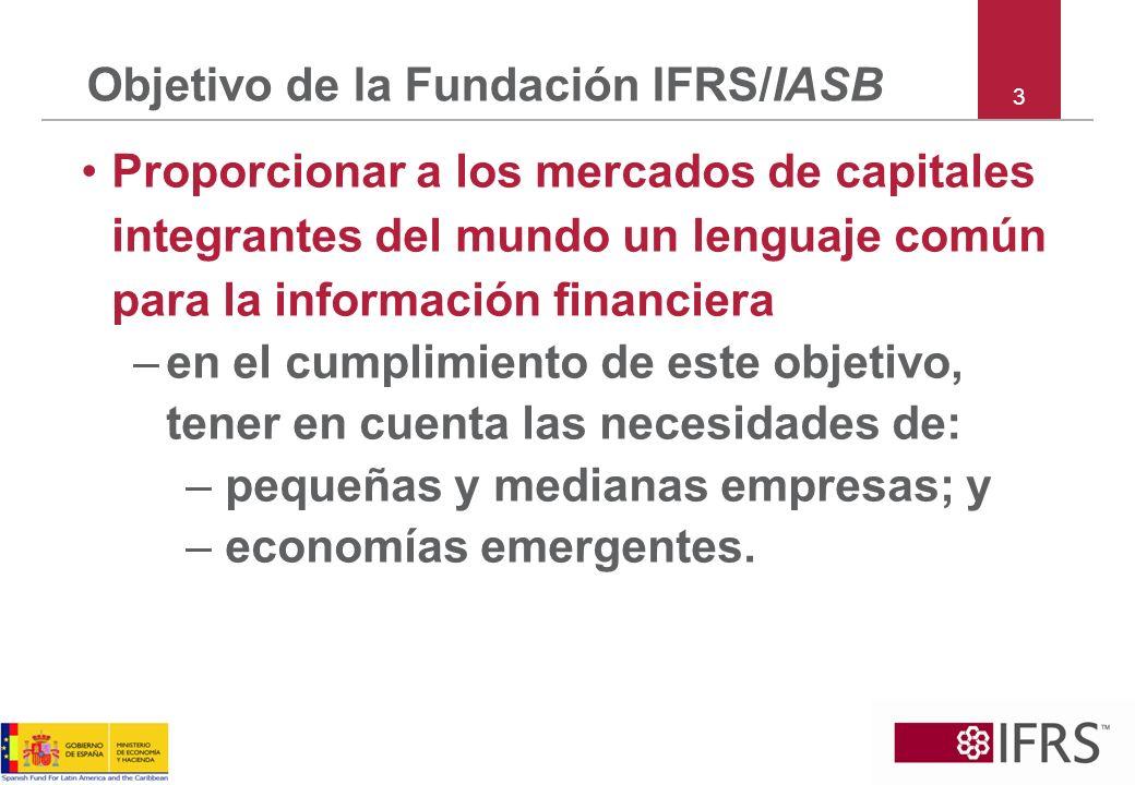 Objetivo de la Fundación IFRS/IASB