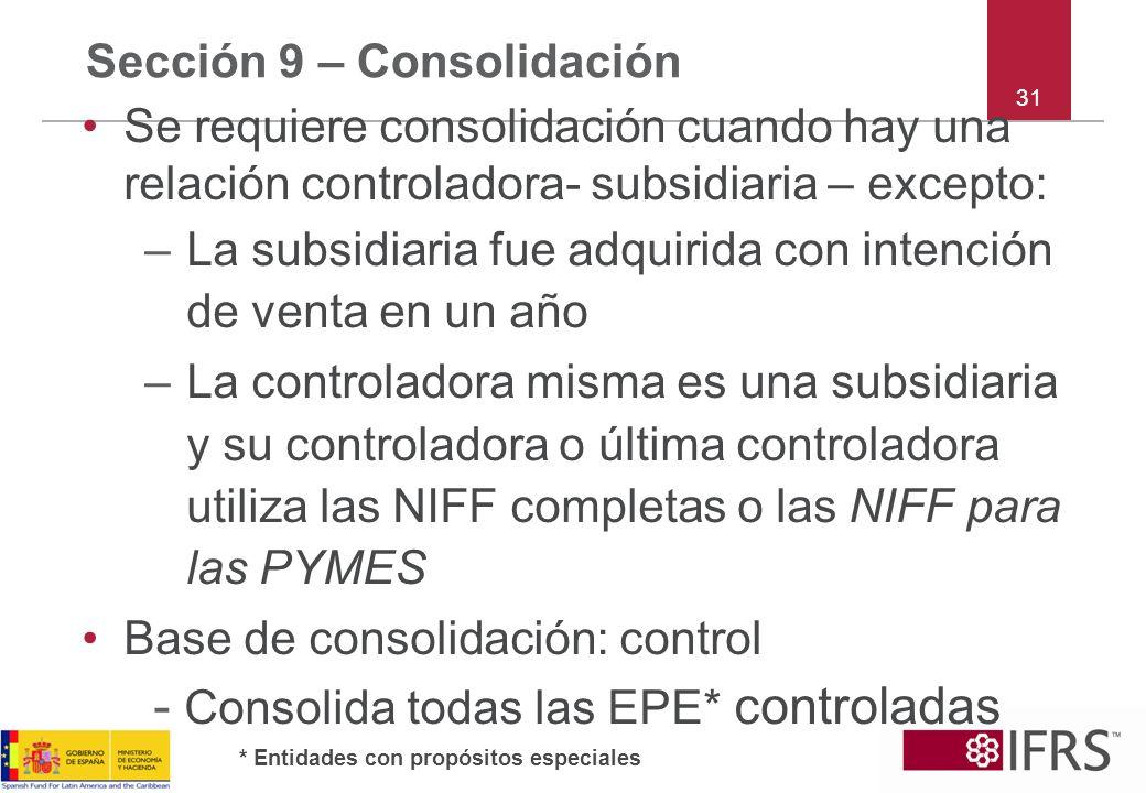 Sección 9 – Consolidación