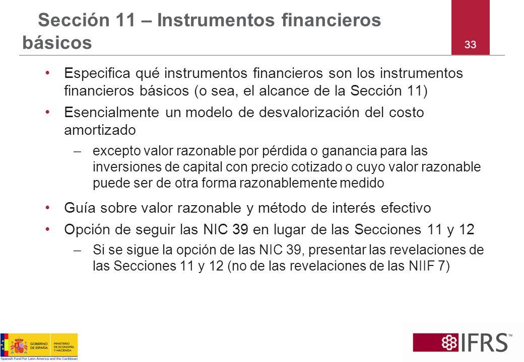 Sección 11 – Instrumentos financieros básicos
