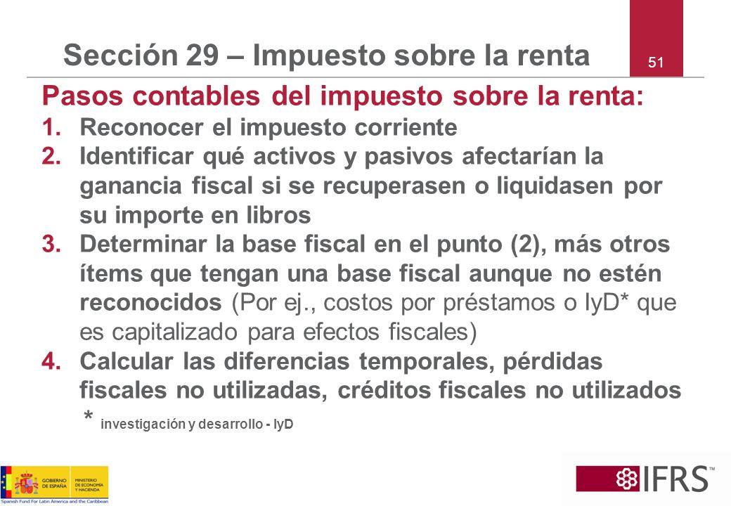 Sección 29 – Impuesto sobre la renta