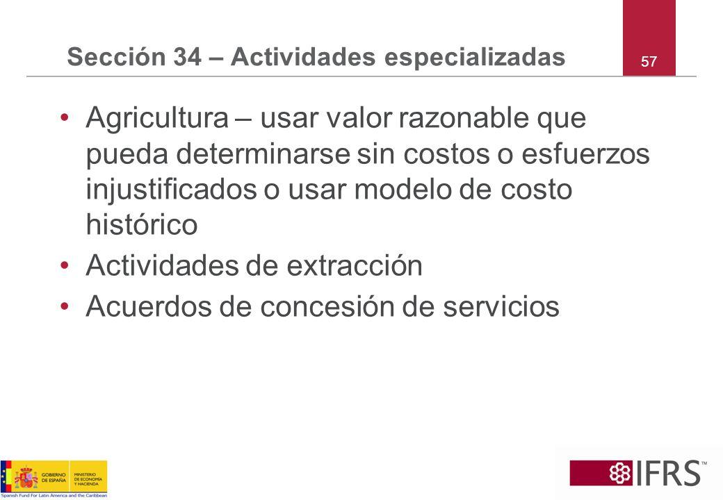 Sección 34 – Actividades especializadas