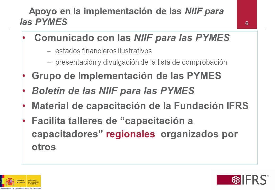 Apoyo en la implementación de las NIIF para las PYMES