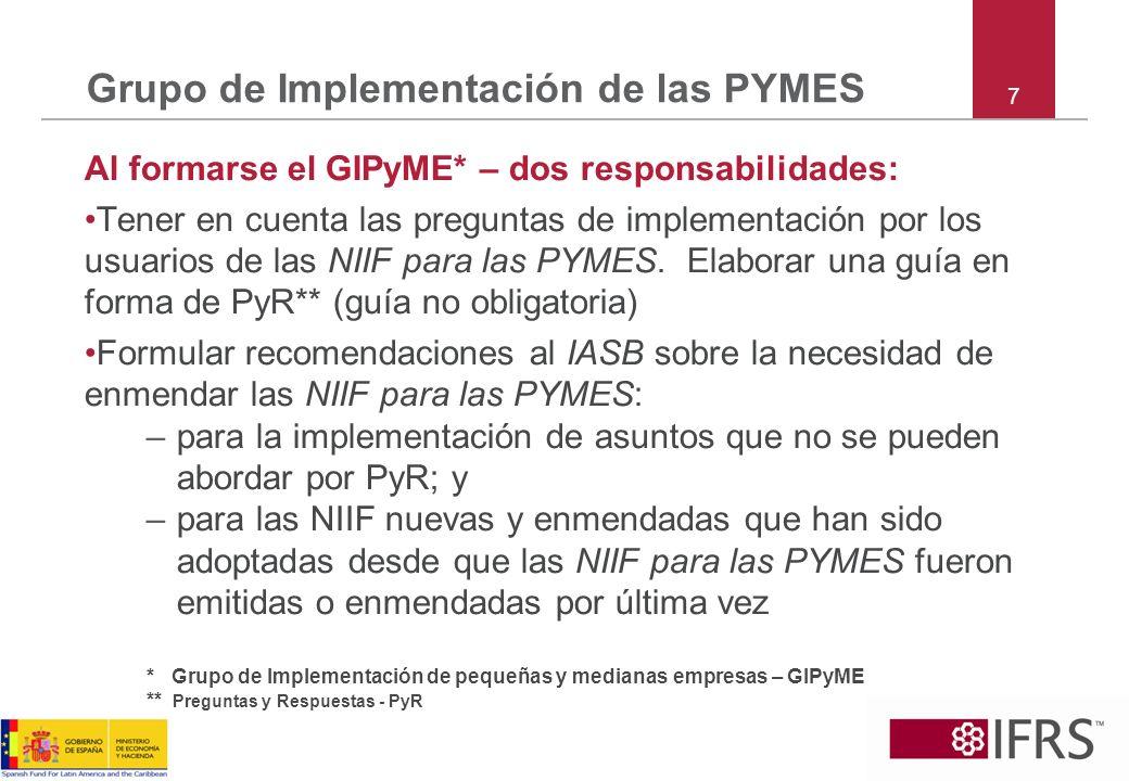 Grupo de Implementación de las PYMES