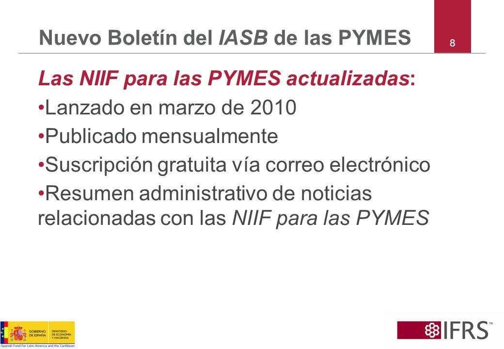 Nuevo Boletín del IASB de las PYMES