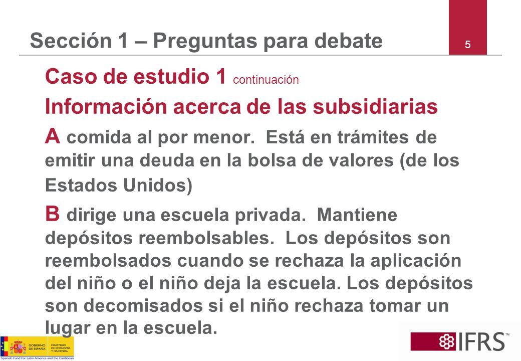 Sección 1 – Preguntas para debate