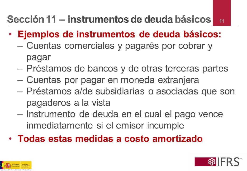 Sección 11 – instrumentos de deuda básicos