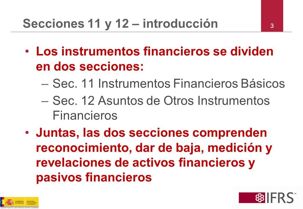 Secciones 11 y 12 – introducción