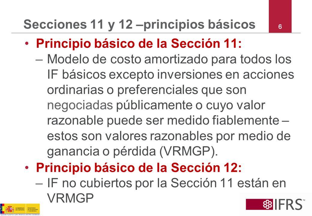 Secciones 11 y 12 –principios básicos