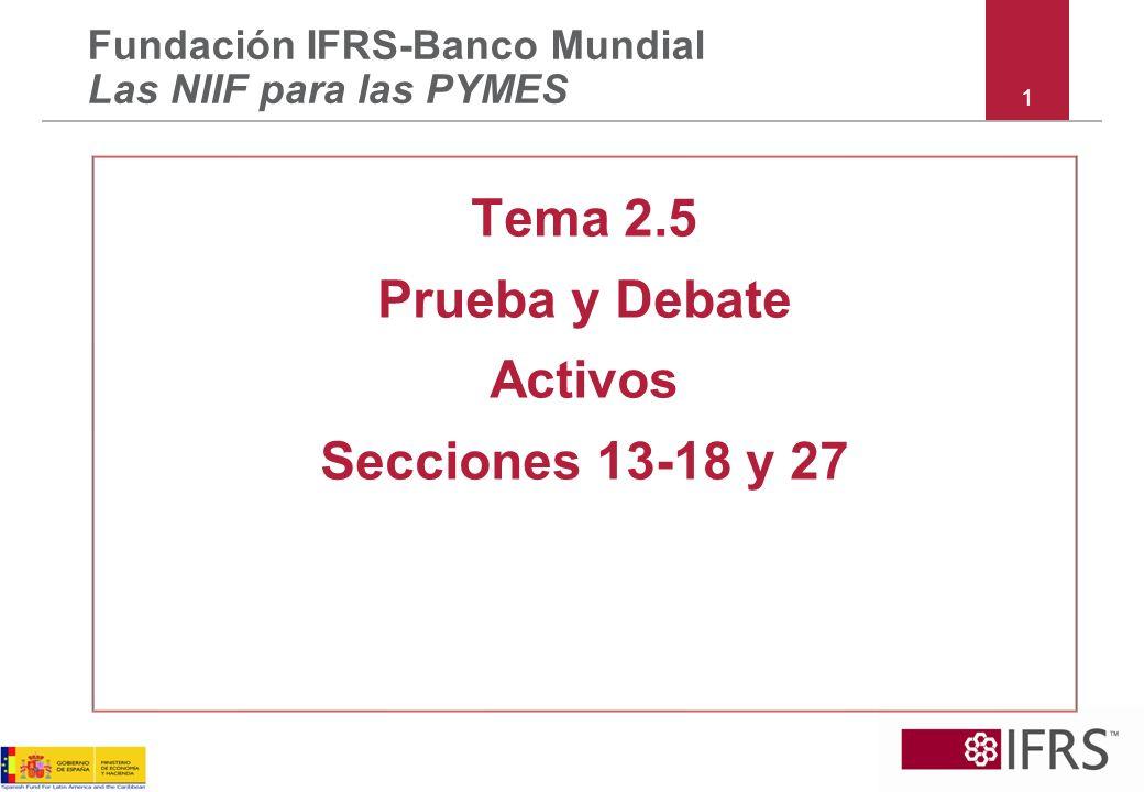 Tema 2.5 Prueba y Debate Activos Secciones 13-18 y 27