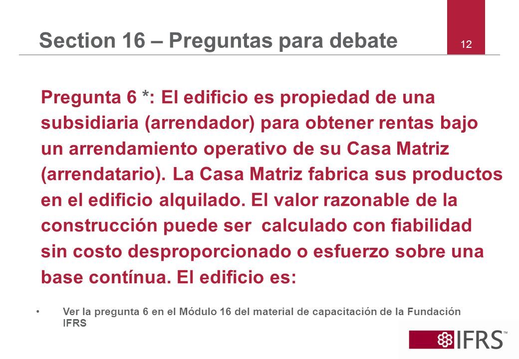 Section 16 – Preguntas para debate
