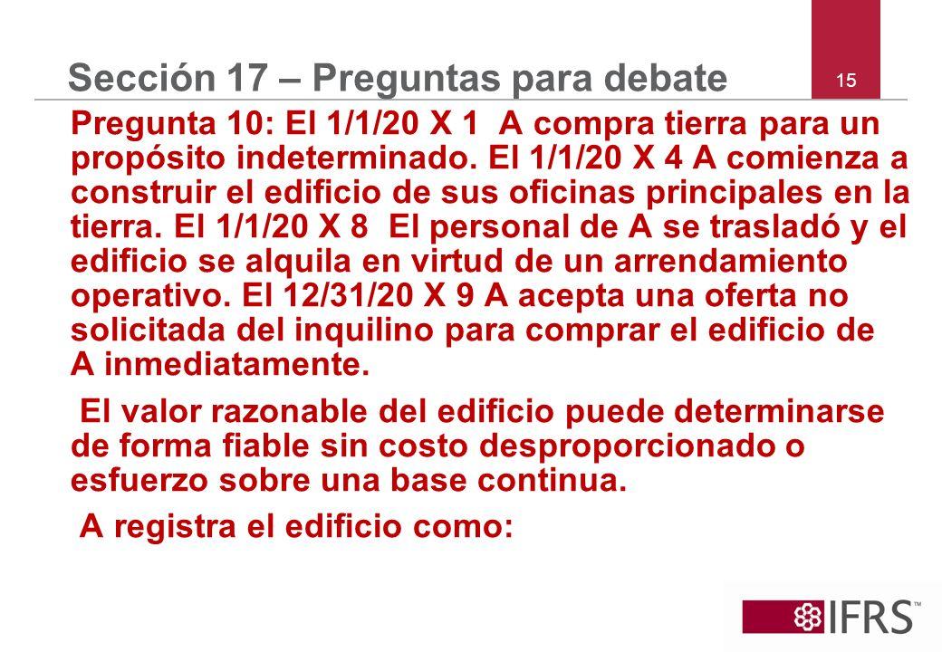 Sección 17 – Preguntas para debate