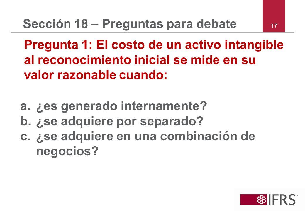 Sección 18 – Preguntas para debate