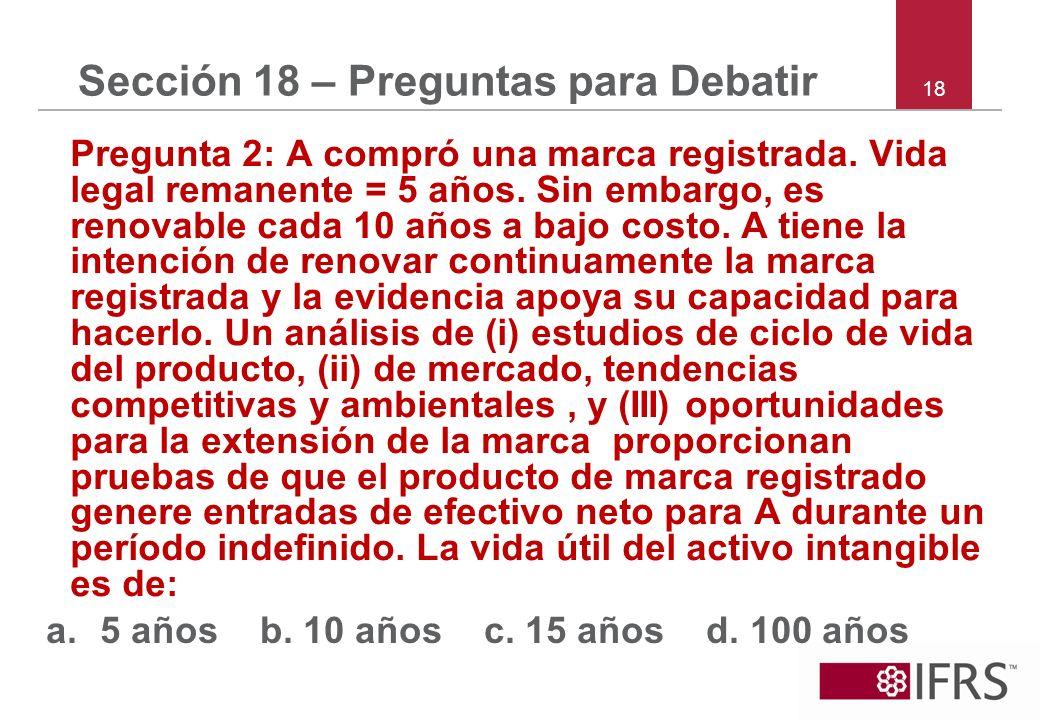 Sección 18 – Preguntas para Debatir