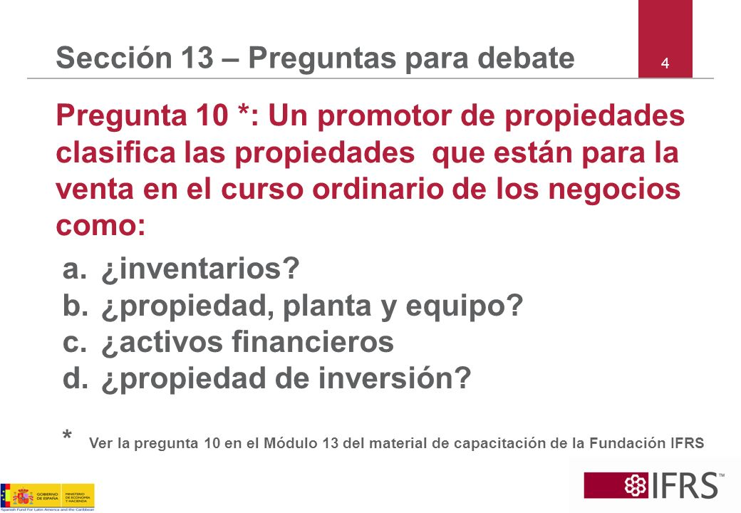 Sección 13 – Preguntas para debate
