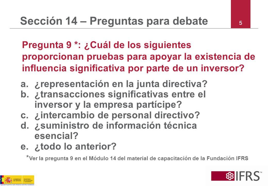 Sección 14 – Preguntas para debate