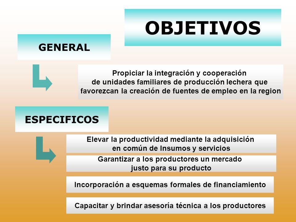 OBJETIVOS GENERAL ESPECIFICOS Propiciar la integración y cooperación