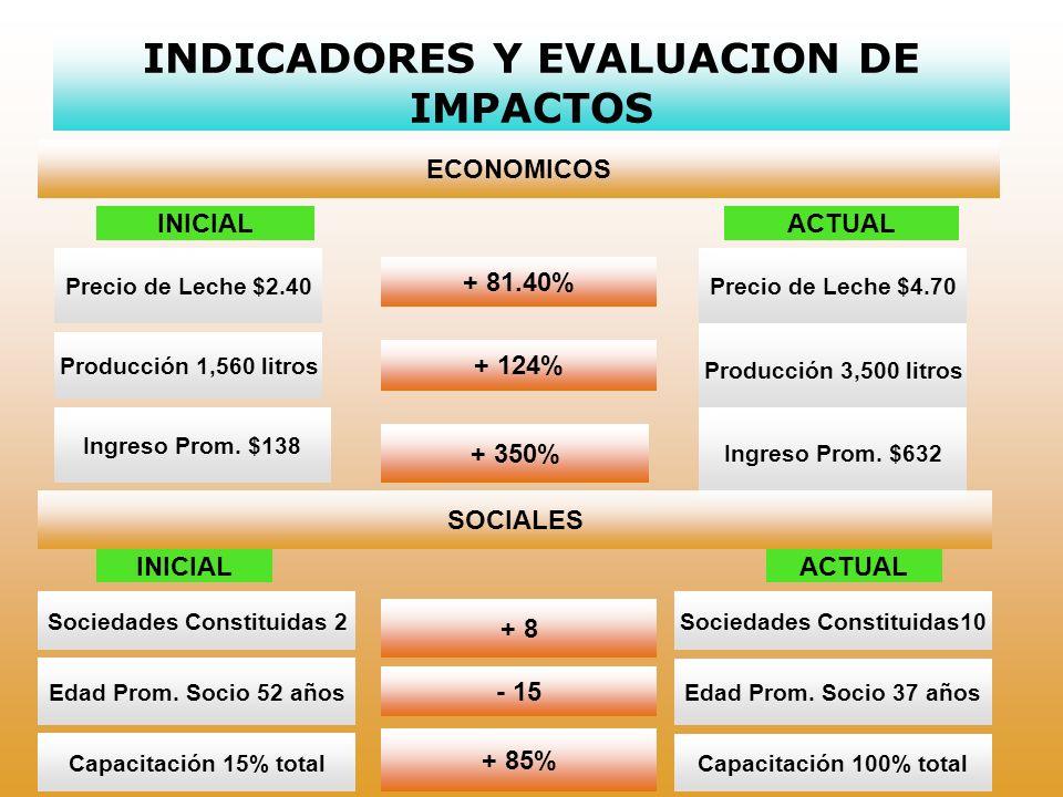 INDICADORES Y EVALUACION DE IMPACTOS