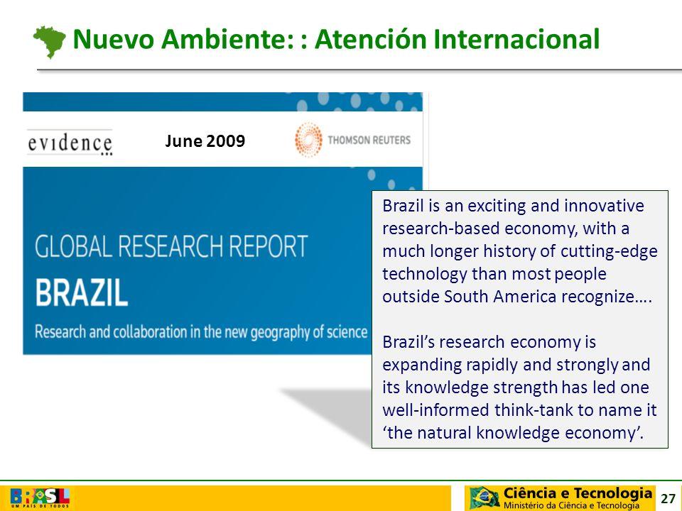 Nuevo Ambiente: : Atención Internacional