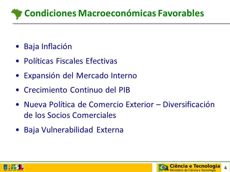Condiciones Macroeconómicas Favorables