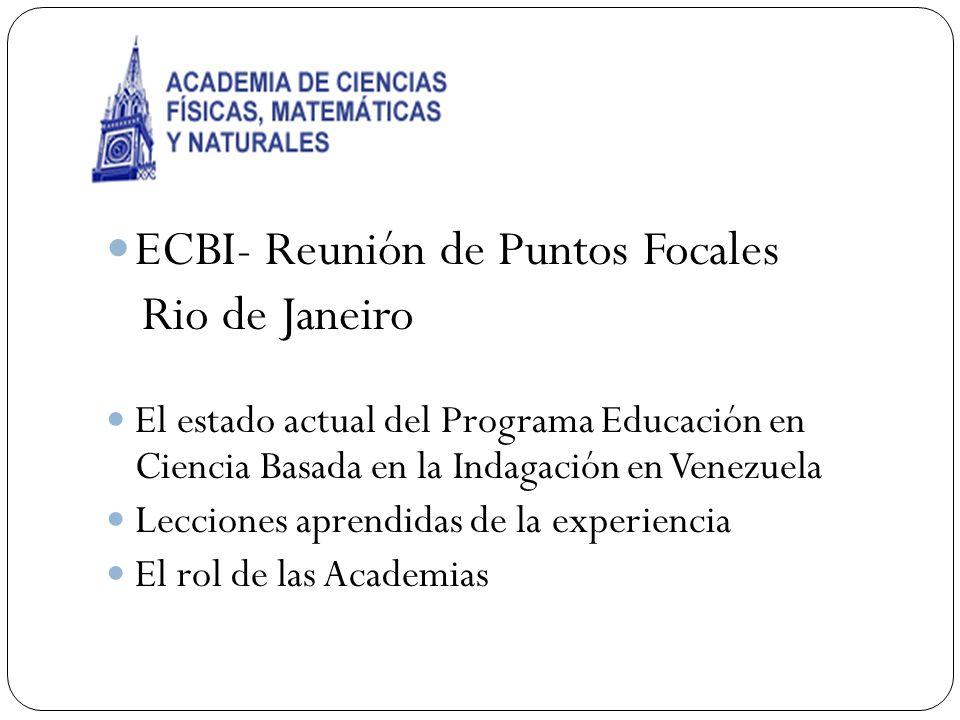 ECBI- Reunión de Puntos Focales Rio de Janeiro