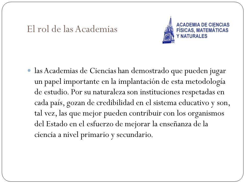 El rol de las Academias