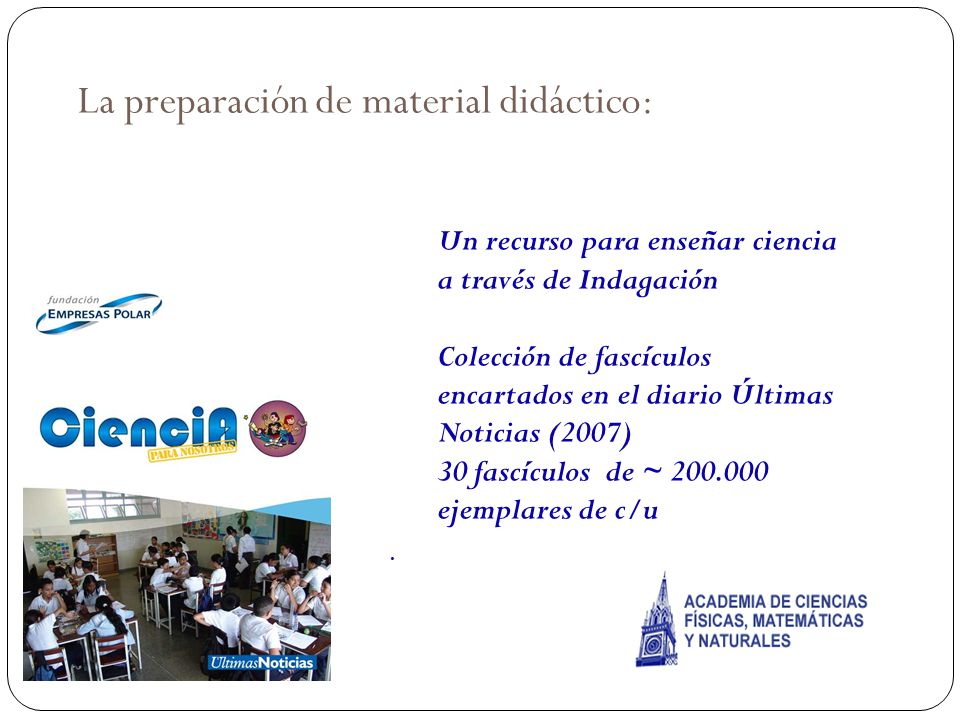 La preparación de material didáctico: