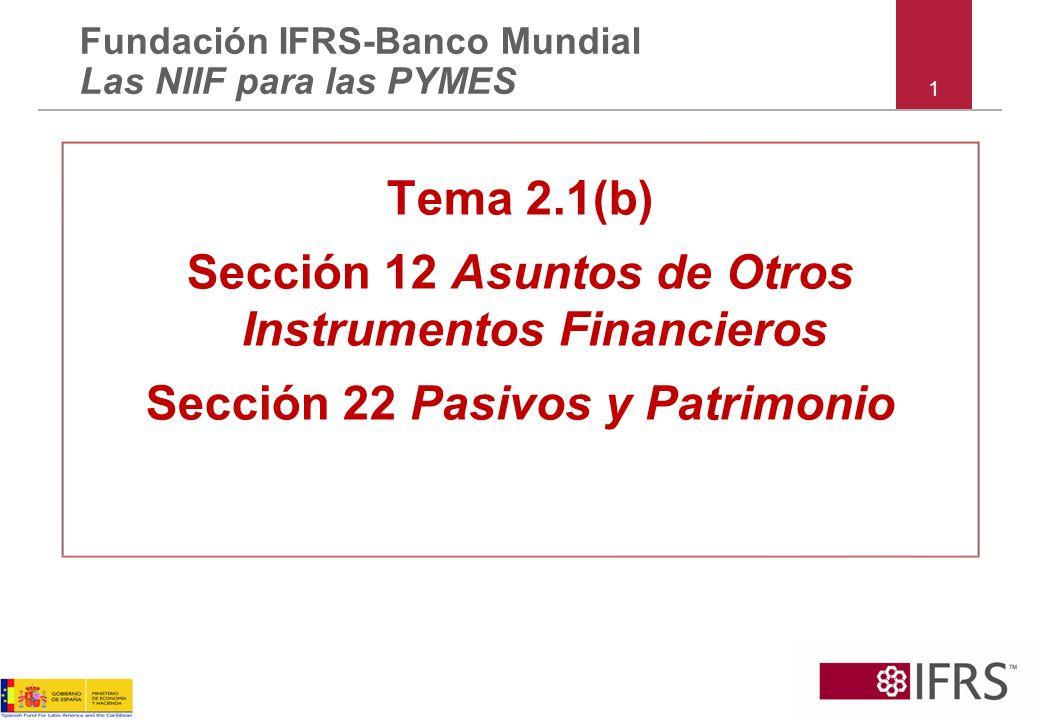 Sección 12 Asuntos de Otros Instrumentos Financieros