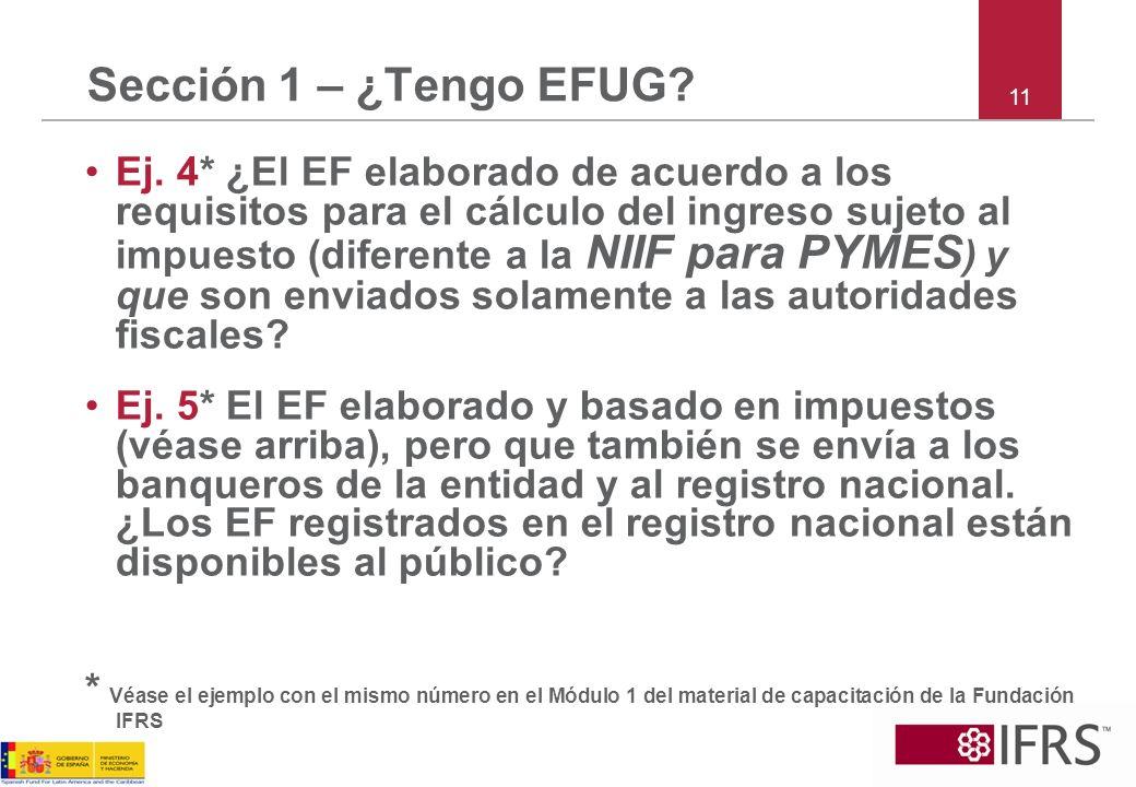 Sección 1 – ¿Tengo EFUG 11.