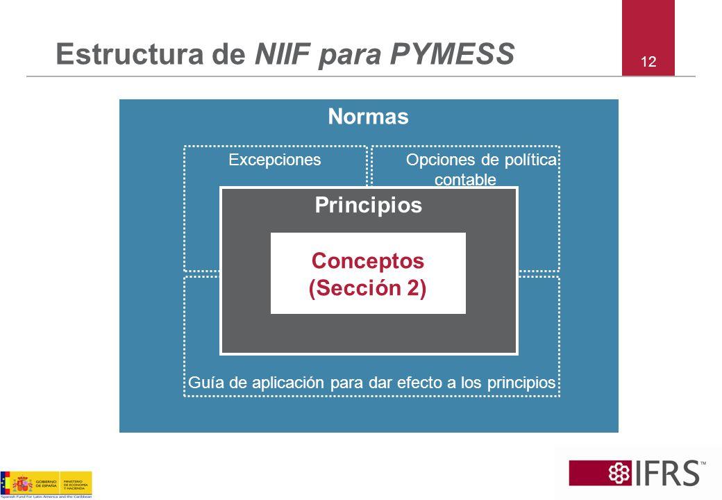 Estructura de NIIF para PYMESS
