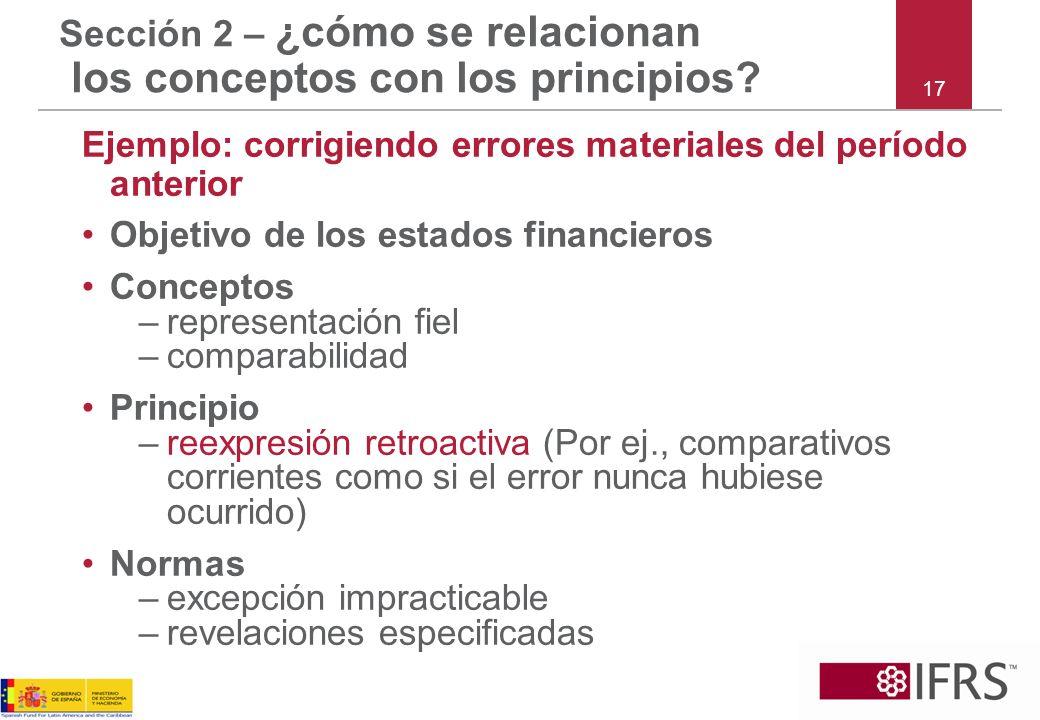 Sección 2 – ¿cómo se relacionan los conceptos con los principios