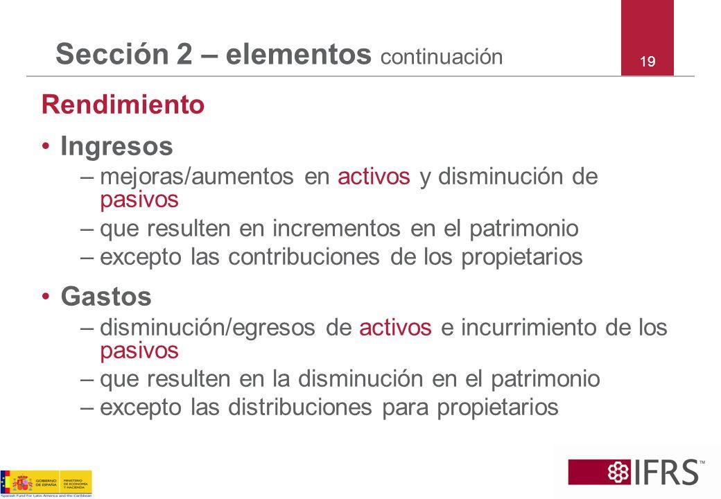 Sección 2 – elementos continuación