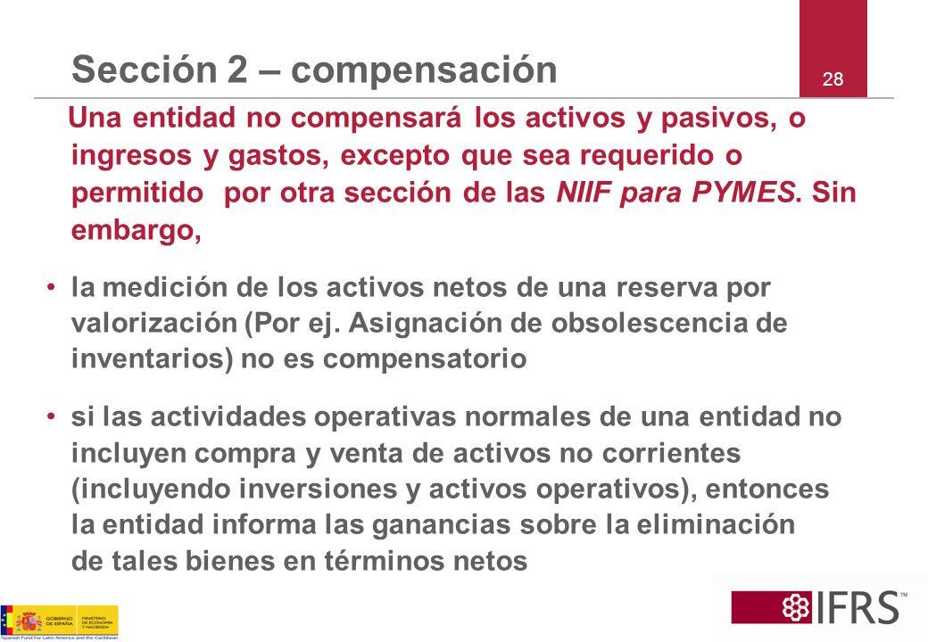 Sección 2 – compensación