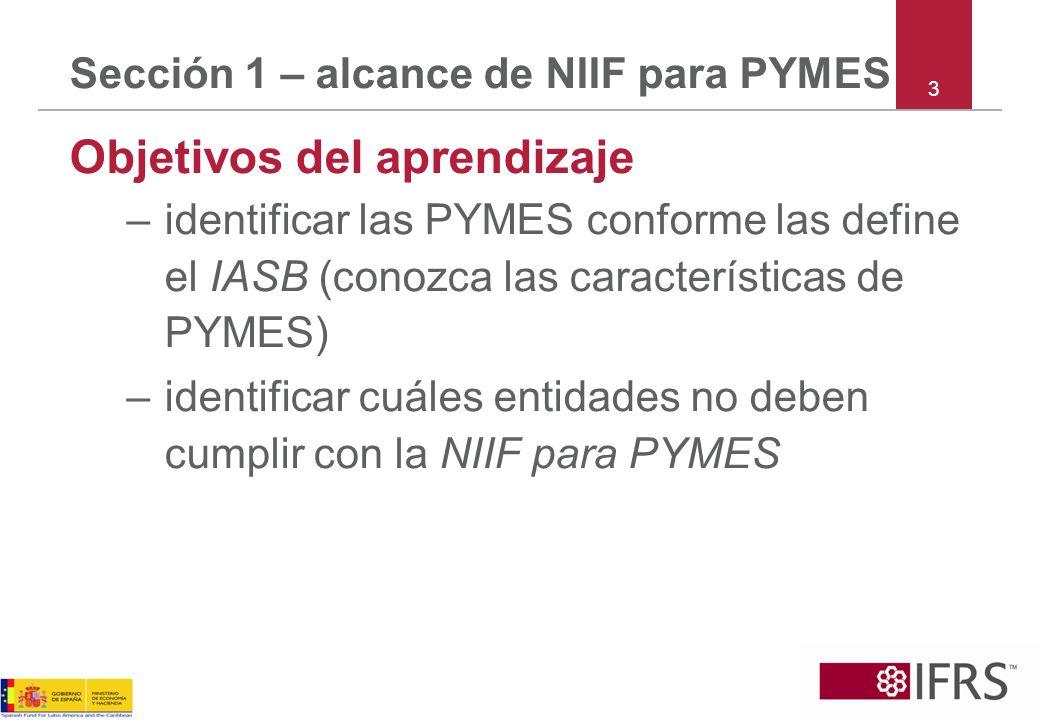 Sección 1 – alcance de NIIF para PYMES