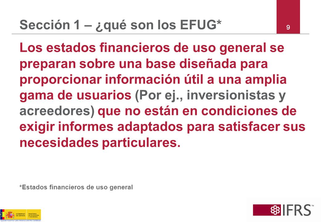Sección 1 – ¿qué son los EFUG*