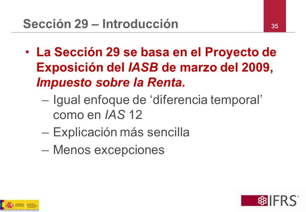 Sección 29 – Introducción