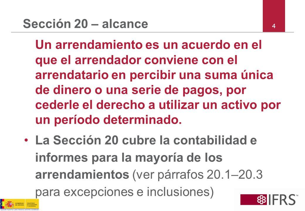 Sección 20 – alcance 4.