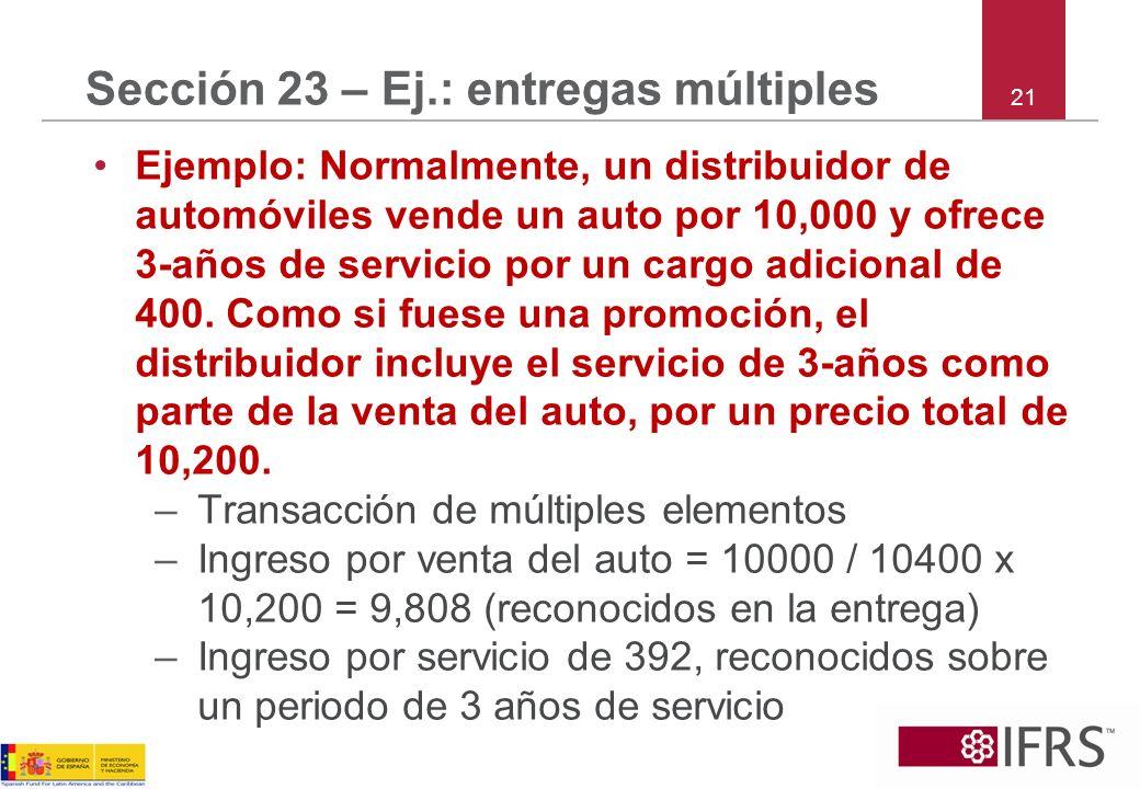 Sección 23 – Ej.: entregas múltiples