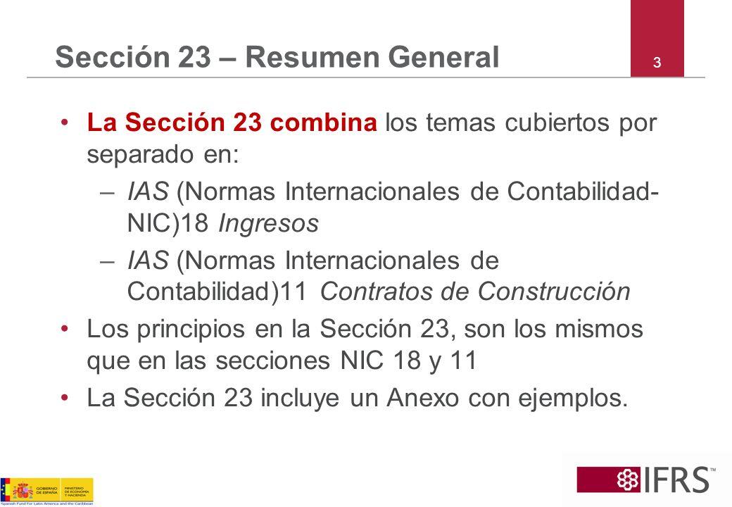 Sección 23 – Resumen General