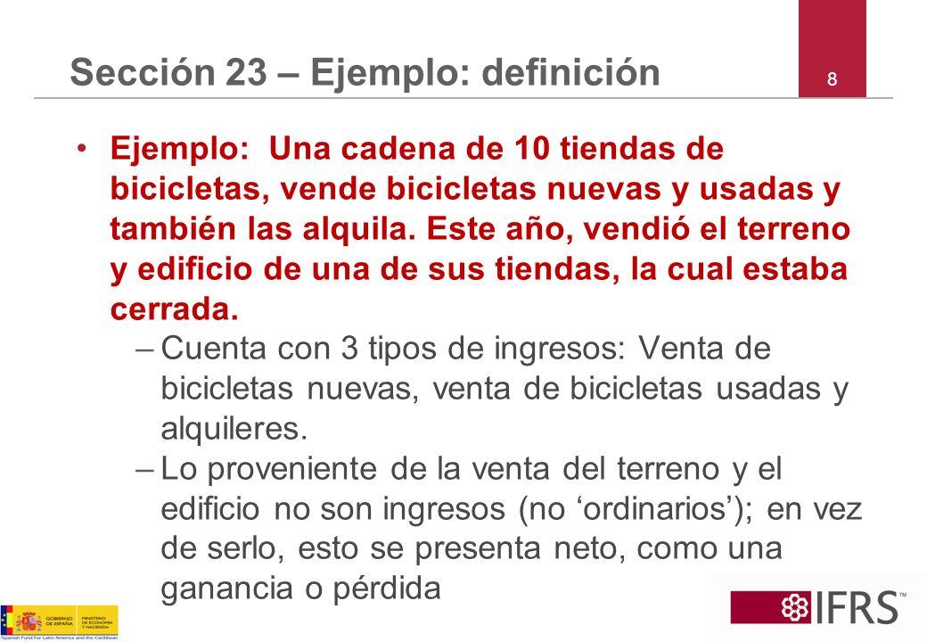 Sección 23 – Ejemplo: definición
