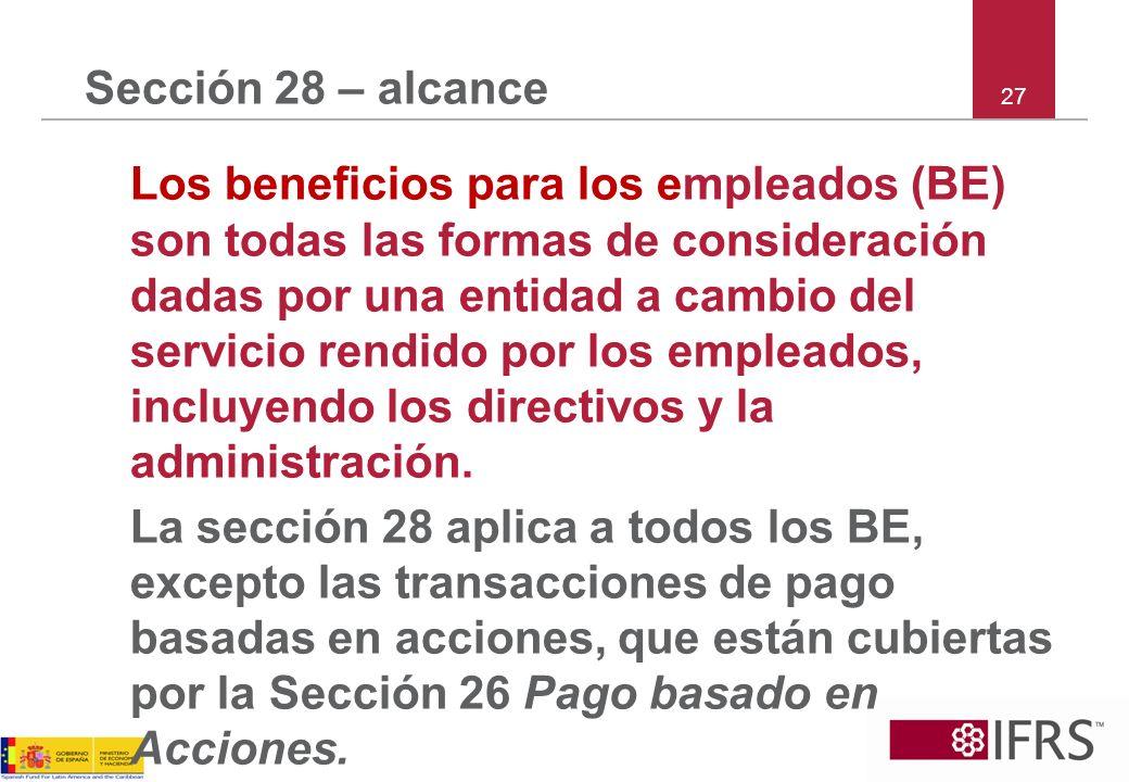 Sección 28 – alcance 27.