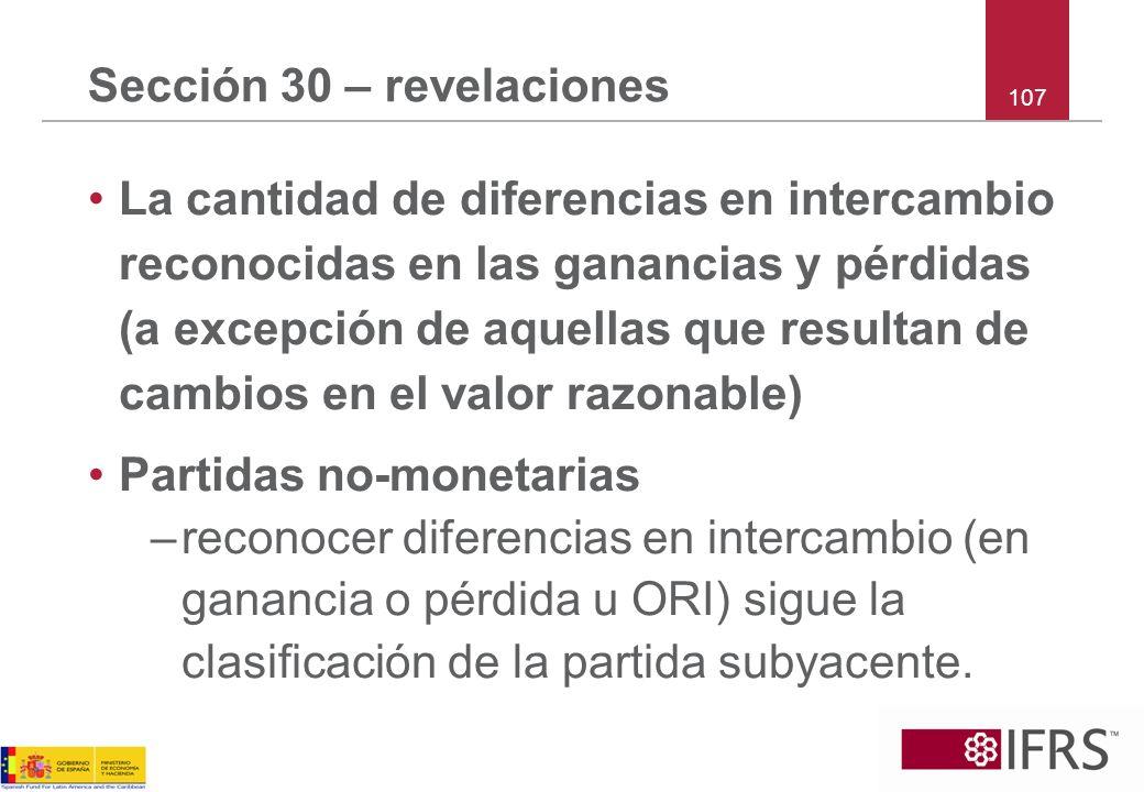 Sección 30 – revelaciones