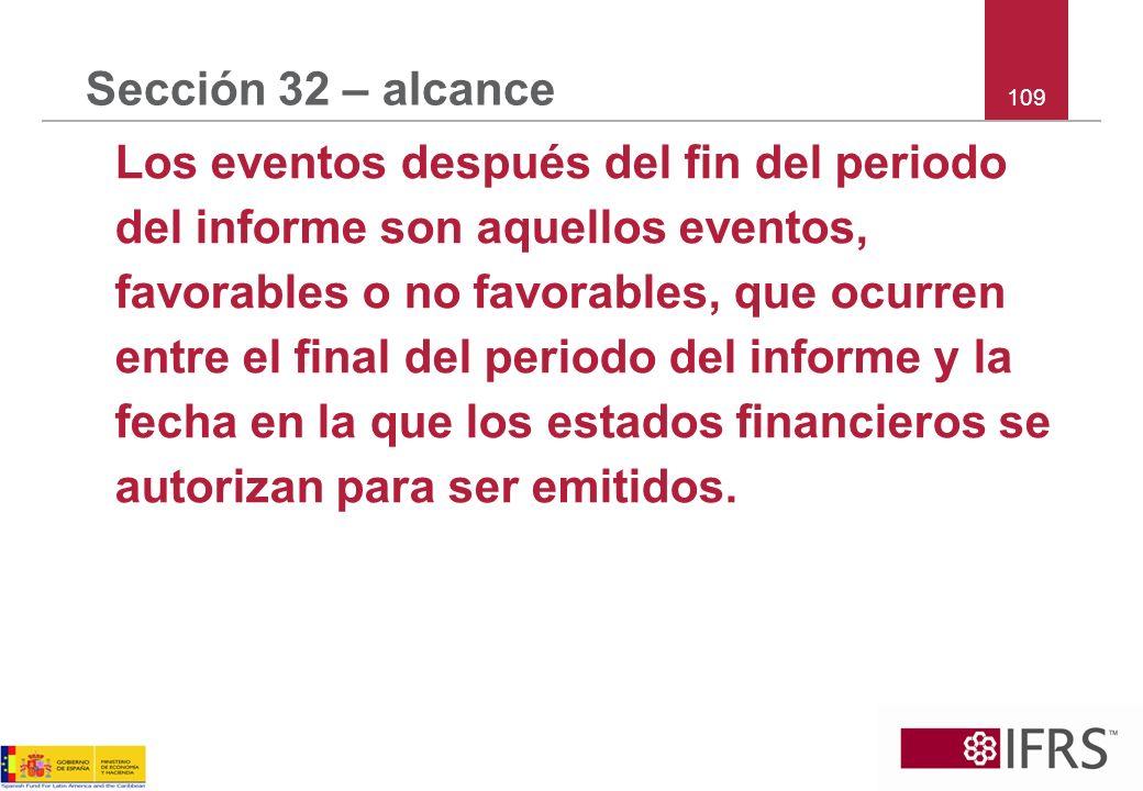 Sección 32 – alcance 109.