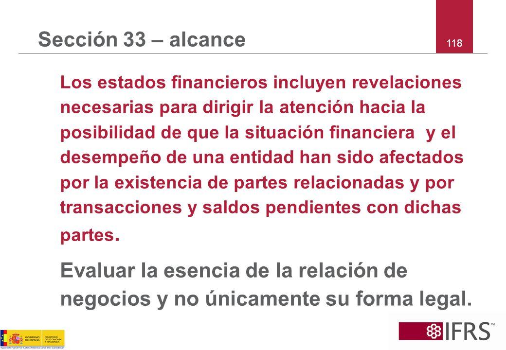 Sección 33 – alcance 118.