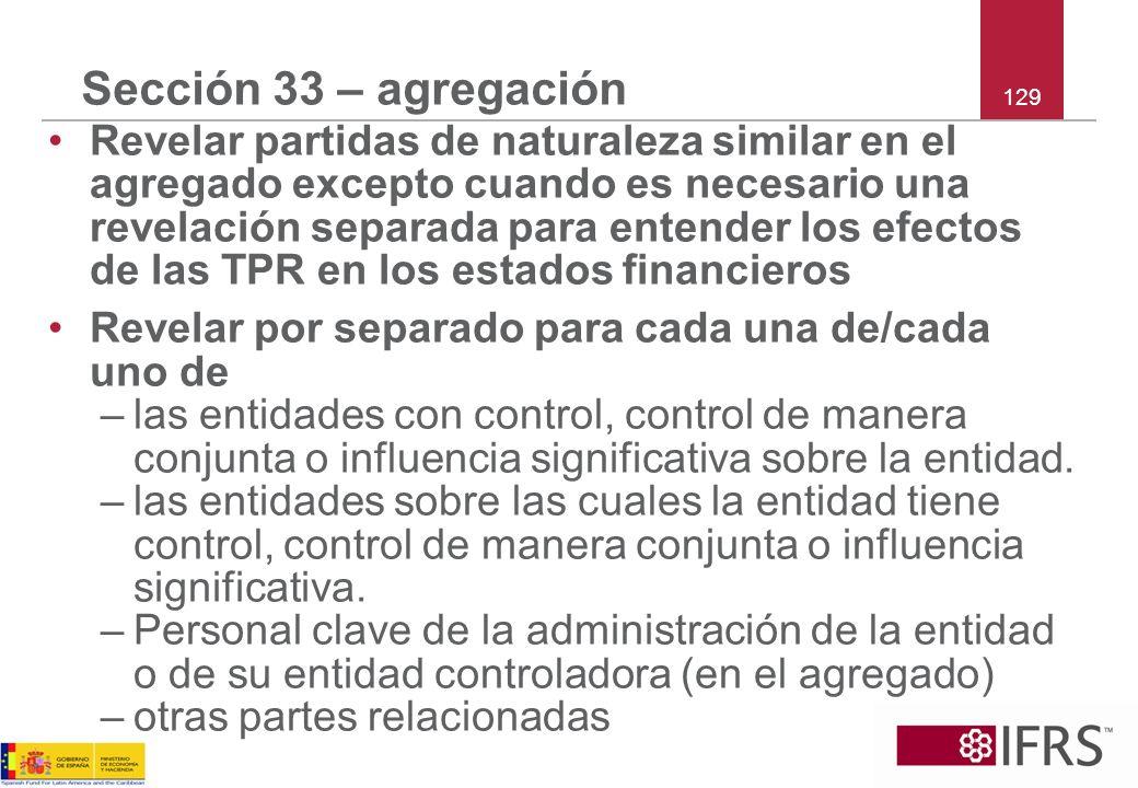 Sección 33 – agregación 129.