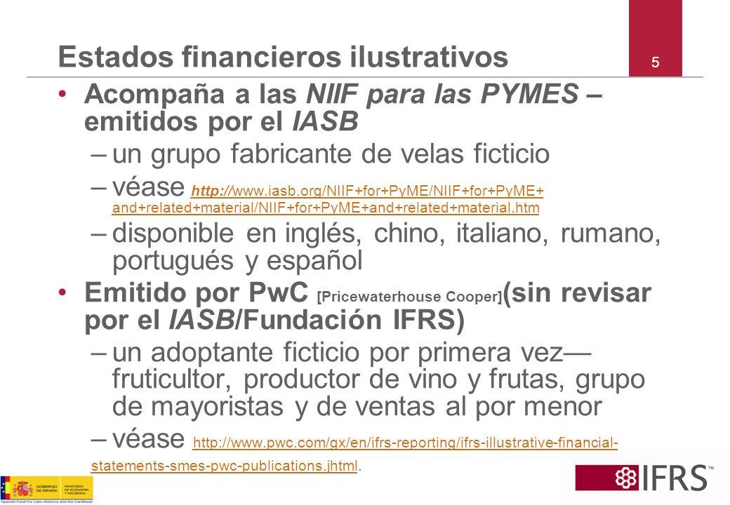 Estados financieros ilustrativos