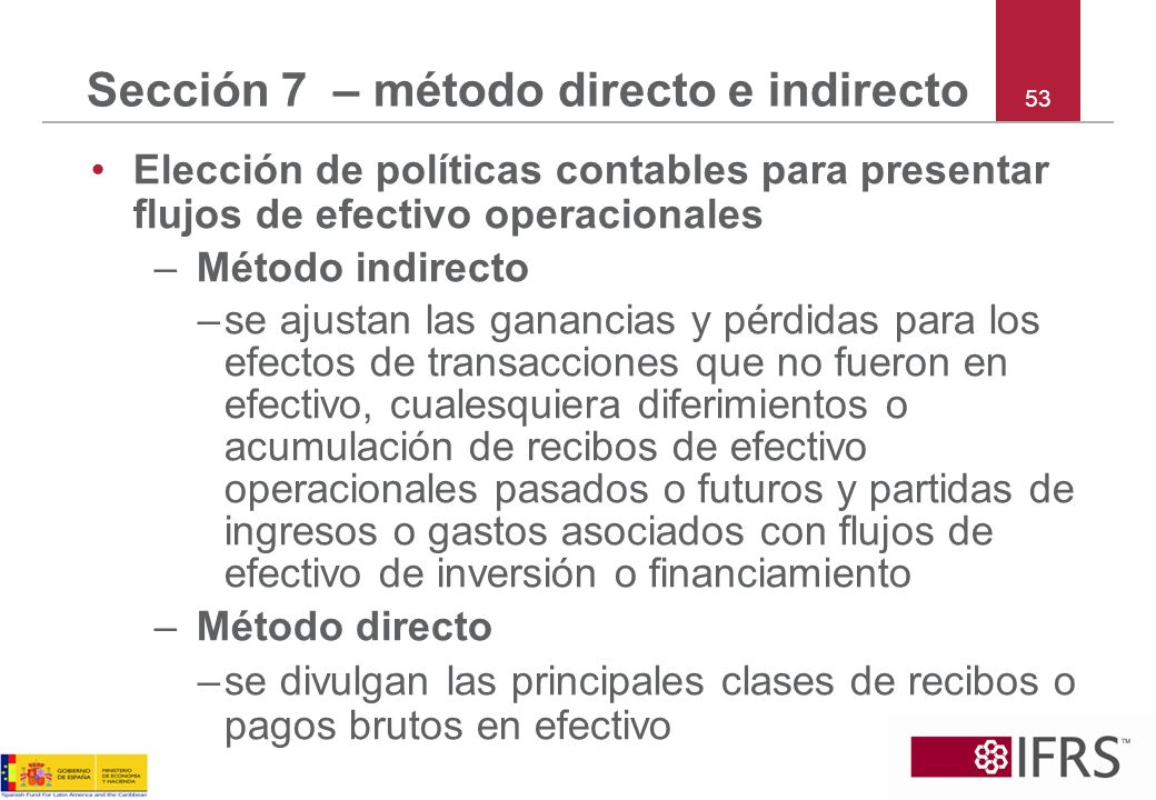 Sección 7 – método directo e indirecto